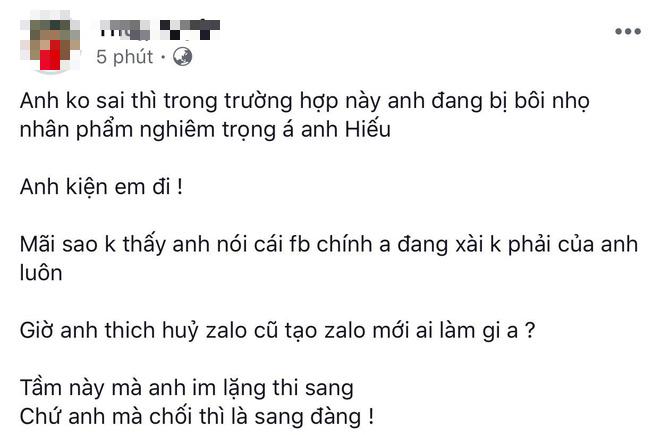 Hồ Quang Hiếu vừa phủ nhận ồn ào tình ái, nữ chính lên tiếng: Anh đang bị bôi nhọ nghiêm trọng đó, kiện tôi đi - Hình 1
