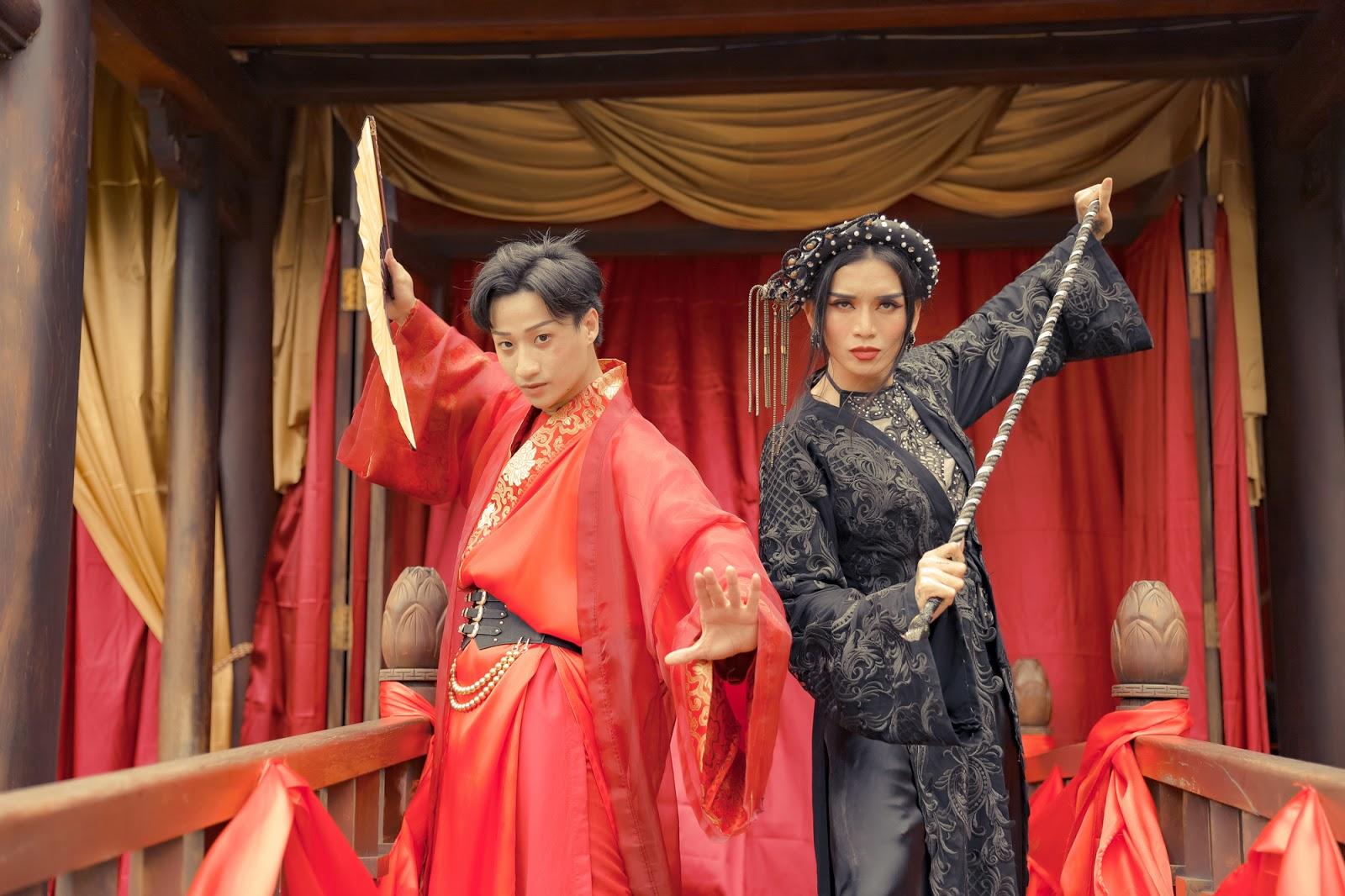 BB Trần, Hải Triều thần thái sắc lẹm, chặt chém hội chị em trong web drama cổ trang của Adam Lâm - Hình 1
