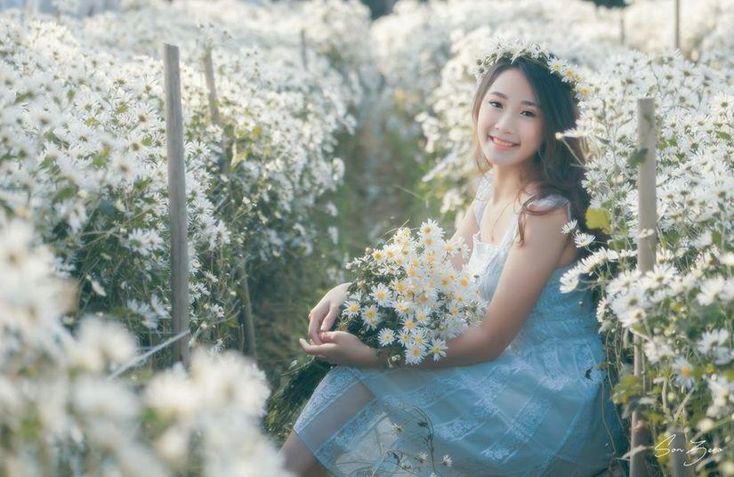 Thiếu nữ xinh đẹp gây sốt bên vườn cúc họa mi tinh khôi ở Hải Phòng - Hình 10