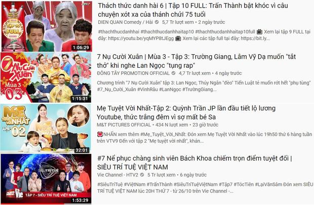 4 TV Show phủ sóng top 10 trending YouTube, show của Quỳnh Trần JP & bé Sa lên hạng chưa đến 24 tiếng - Hình 1