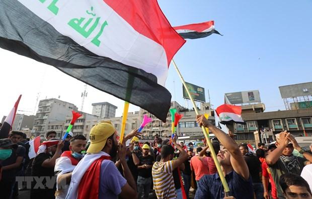 Biểu tình chống các lệnh trừng phạt của Mỹ tại thủ đô của Iraq - Hình 1