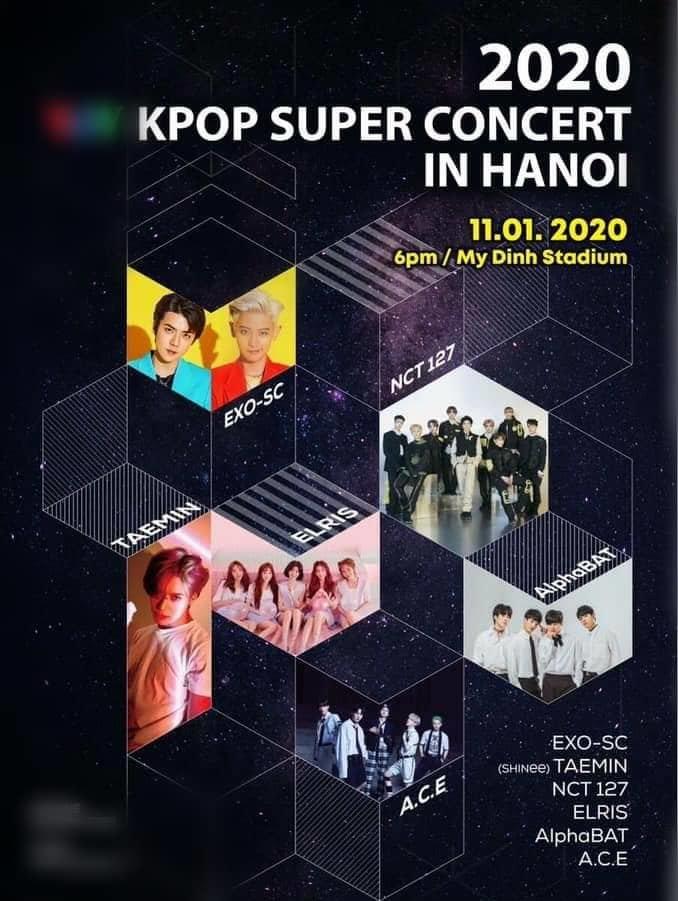 EXO-SC, Taemin (SHINee), NCT 127,... xác nhận sẽ biểu diễn tại Việt Nam đầu năm 2020 - Hình 1