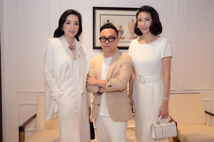 Hoa hậu Hà Kiều Anh xuất hiện quyến rũ với đồ trắng - Hình 3