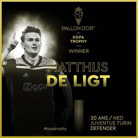 Matthijs De Ligt đánh bại Sancho, Felix giành giải Cầu thủ trẻ hay nhất năm 2019 - Hình 3