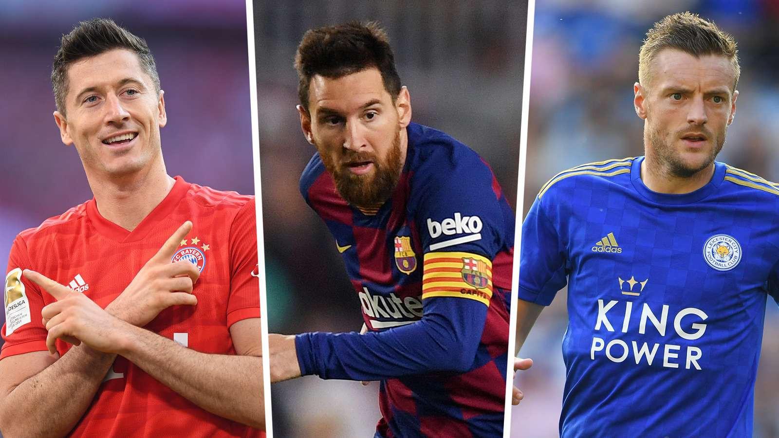 """Cuộc đua """"Chiếc giày vàng châu Âu"""" 2019/2020: Messi kém xa ..."""