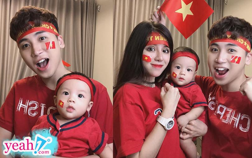 Vlogger Huy Cung lần đầu khoe con trai kháu khỉnh sau 1 năm lấy vợ - Hình 1