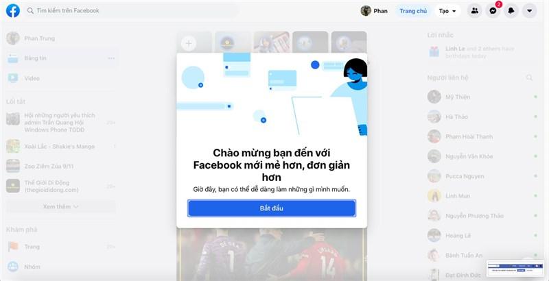 Cách trải nghiệm giao diện mới Facebook: Đẹp, gọn gàng, lạ mà quen - Hình 1