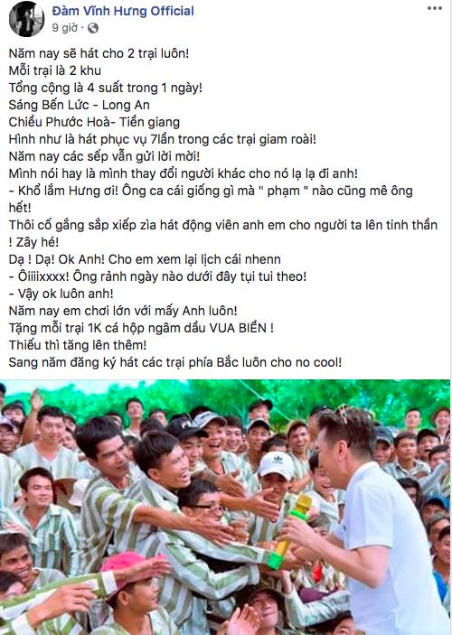 Giữa ồn ào bị kiện tụng, Đàm Vĩnh Hưng gây xúc động khi cùng Trường Giang - Vũ Hà đi hát từ thiện ở trại giam - Hình 1