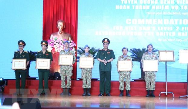Tuyên dương thành tích lực lượng gìn giữ hòa bình Việt Nam - Hình 1
