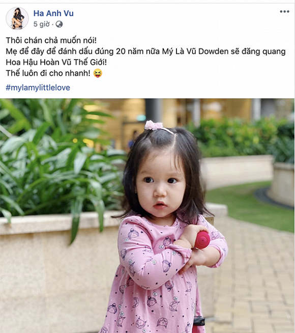 Hà Anh tiết lộ muốn cho con thi hoa hậu, ngầm bất mãn kết quả Hoa hậu hoàn vũ 2019? - Hình 1