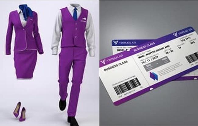Dân mạng lan truyền bộ nhận diện thương hiệu tím lịm tìm sim, nghi là màu chủ đạo của Hãng hàng không Vinpearl Air - Hình 1