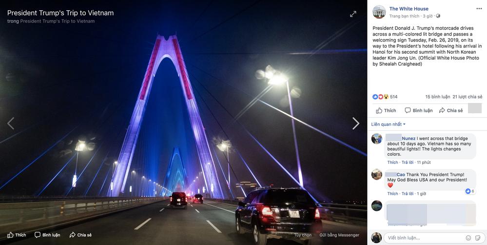 Cầu Nhật Tân xuất hiện trên fanpage của Nhà Trắng, CĐM Mỹ trầm trồ: Lộng lẫy quá - Hình 5