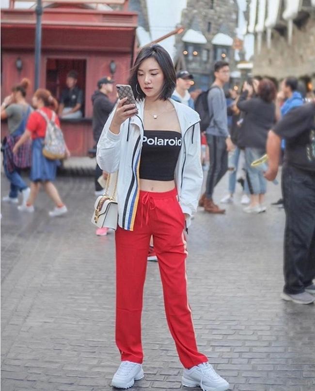 Mỹ nữ Thái Lan phô bày đường cong với áo crop top - Hình 15