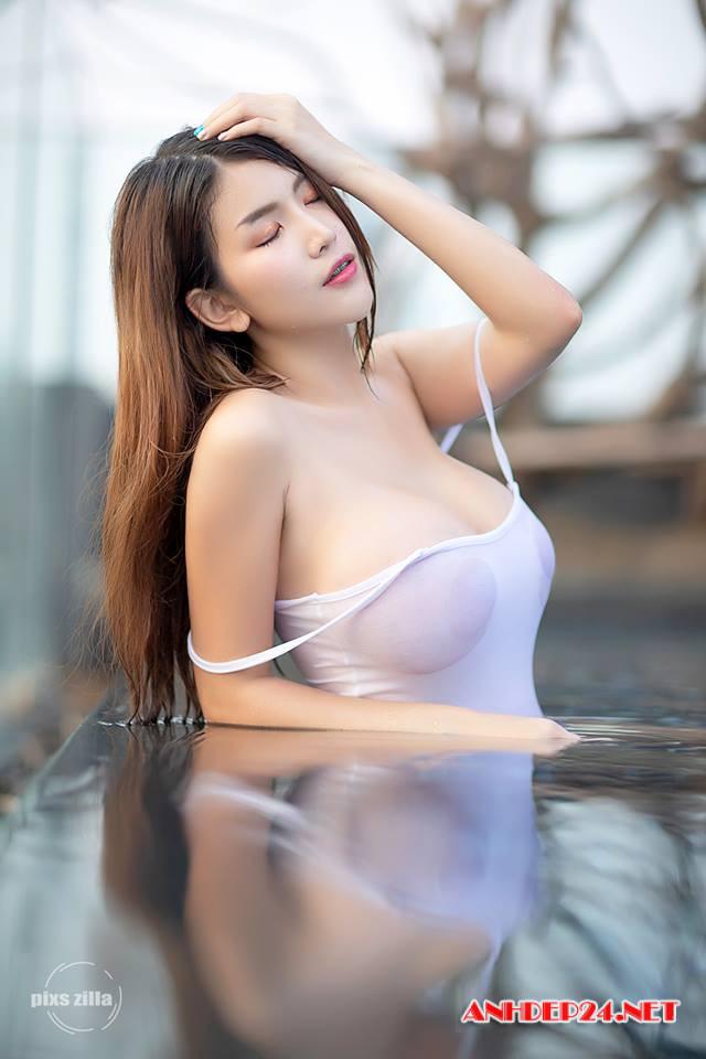 Đau tim trước đường cong bốc lửa, vòng 1 nảy nở của hot girl Alisa Rattanachawangkul - Hình 12