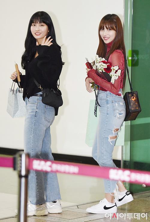 Twice, Red Velvet đọ phong cách khi ra sân bay - Hình 5