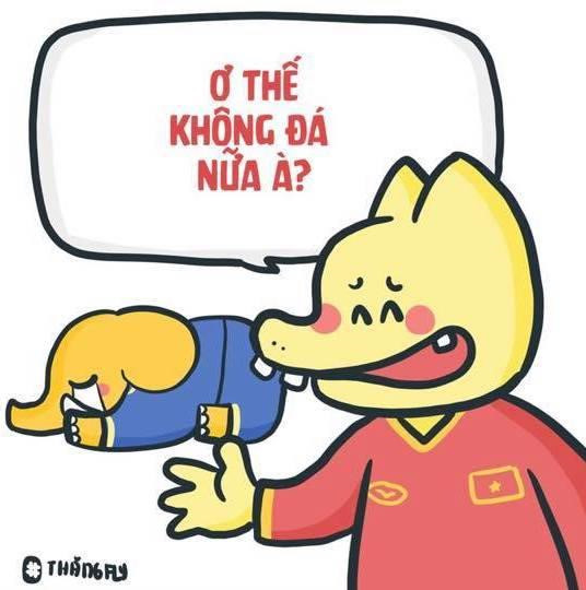 Ảnh chế Thái Lan ơi xưa rồi, bóng đá Việt Nam đã không còn sợ nữa - Hình 1