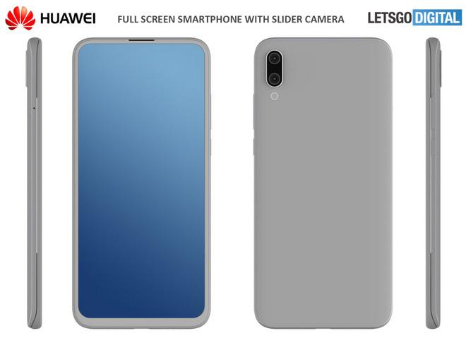 Huawei cũng ấp ủ smartphone thiết kế trượt, màn hình tràn viền, camera kép cả trước và sau - Hình 1