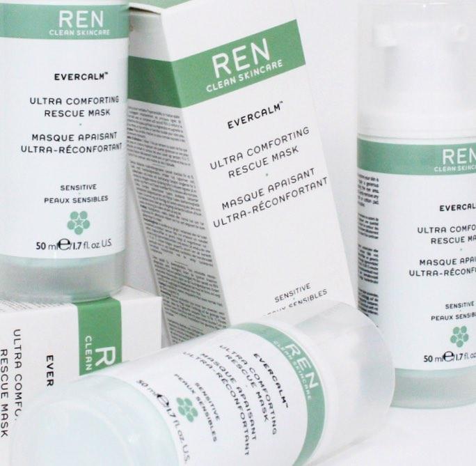 Mặt nạ REN Clean Skincare Evercalm Ultra Comforting Rescue - Giải cứu làn da cấp tốc những khi nhạy cảm nhất - Hình 1