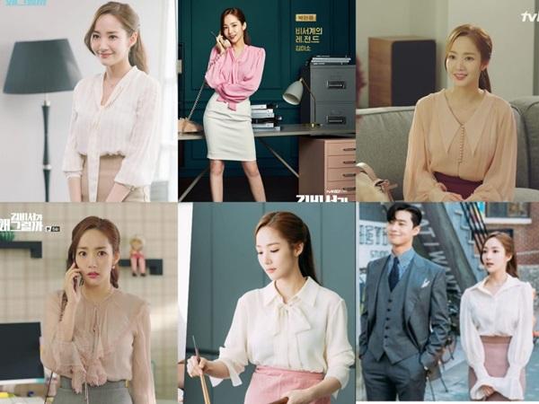 Cùng vào vai thư ký nhưng gu thời trang công sở của Park Min Young và Yoo In Na lại khác nhau một trời một vực - Hình 2