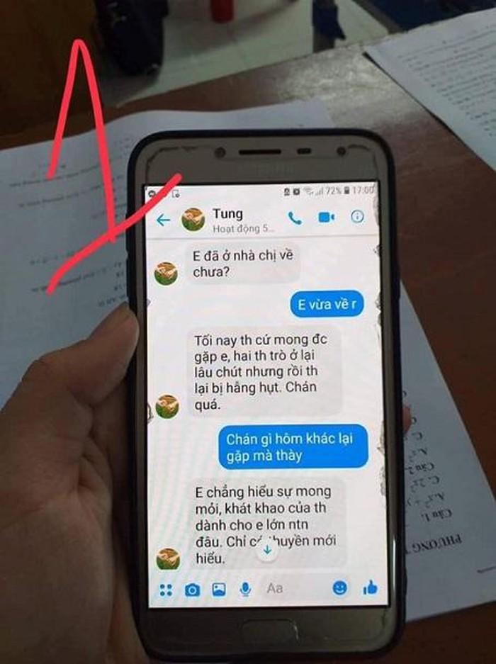 Ghê tởm loạt tin nhắn thầy chủ nhiệm hơn 40 tuổi gạ tình nữ sinh Thái Bình lớp 10 - Hình 2