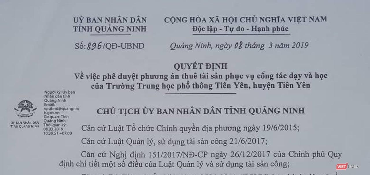 Quảng Ninh: Gần 70 tỷ đồng để thuê trường và cuộc di chuyển vội vã - Hình 1