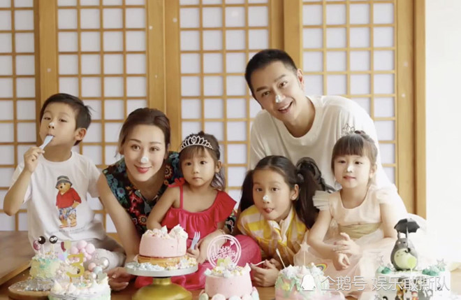 Đoàn Dự Trần Hạo Dân khoe tổ ấm hạnh phúc với 4 con nhỏ ở tuổi 50 - Hình 2