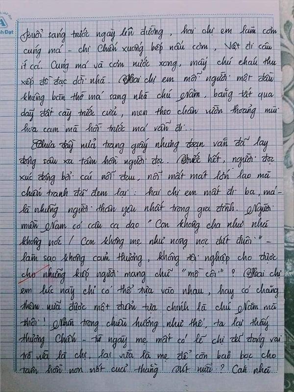 Bài văn 9.5 điểm xuất sắc từ nội dung đến chữ viết, khiến giáo viên bất lực khi viết lời phê - Hình 4