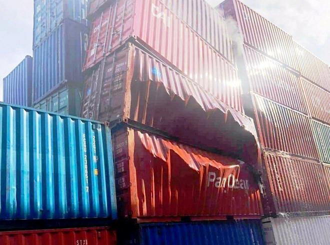 Thùng container nhập từ Trung Quốc bỗng dưng phát nổ ở cảng Cát Lái - Hình 1
