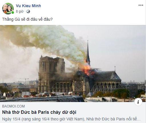 Cháy Nhà thờ Đức Bà: Cư dân mạng chia buồn cùng nước Pháp - Hình 9