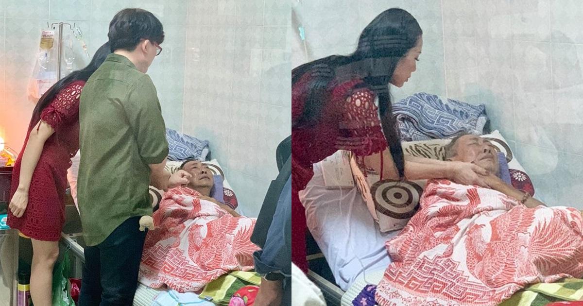 Nghệ sĩ Lê Bình bật khóc khi Trịnh Kim Chi và Đại Nghĩa đến thăm - Hình 6