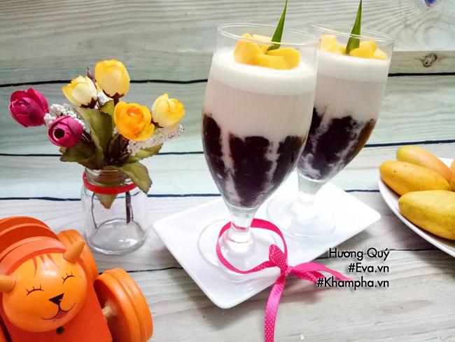 Sắp hè, chị em học vội làm pudding nếp cẩm vừa lạ vừa ngon đãi cả nhà - Hình 7