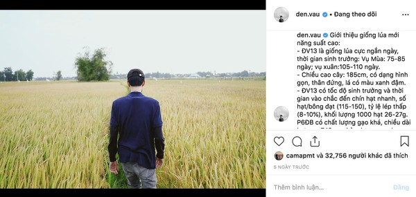 Có ai dùng Instagram như Đen Vâu, hết khoe giống lúa mới lại đăng tìm mua... áo thun - Hình 6