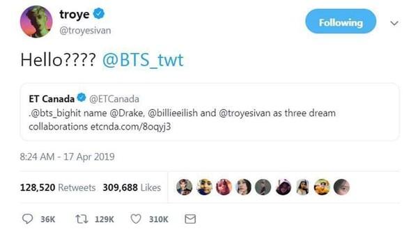 Đứng trước lời mời hợp tác từ BTS, Troye Sivan có động thái đầu tiên - Hình 2