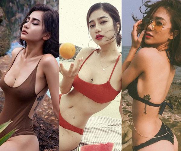 Hình xăm ngực cá tính của người đẹp Quảng Ninh từng ném danh hiệu vào xe rác - Hình 3