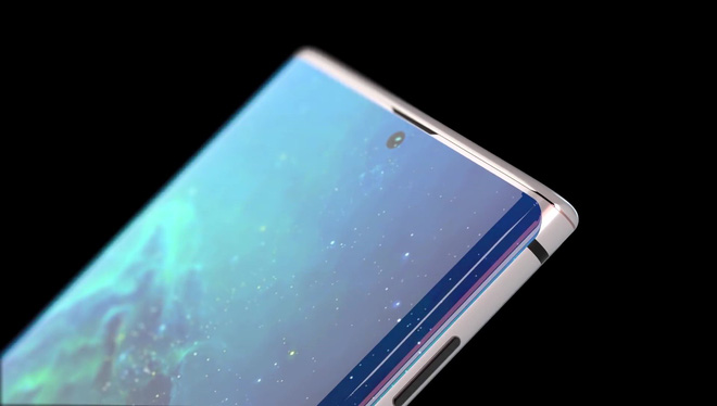 Ngắm concept Galaxy Note 10 với thiết kế màn hình Infinity-O hoàn hảo, 4 camera ở mặt lưng - Hình 5