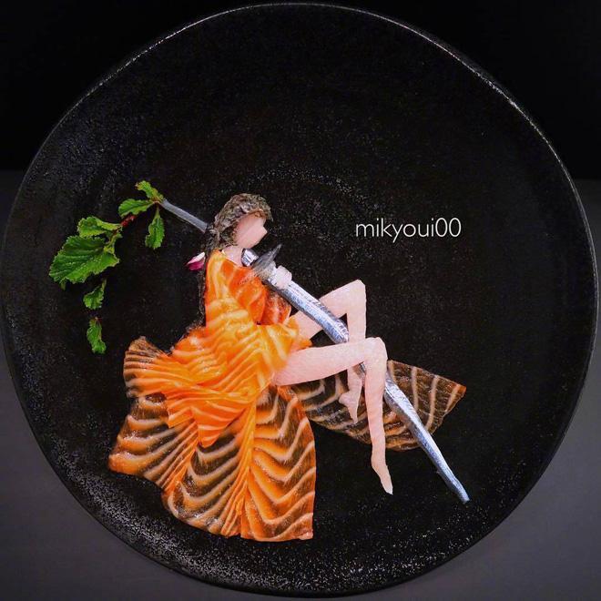 Nghệ thuật sashimi Nhật Bản độc đáo đến mức nhìn thoáng qua không ai nghĩ tác phẩm này được làm từ cá - Hình 10