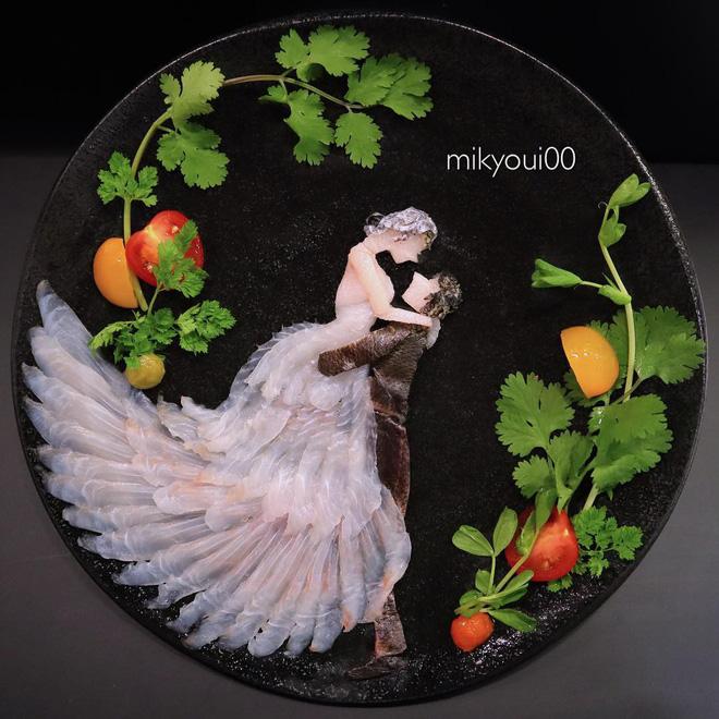 Nghệ thuật sashimi Nhật Bản độc đáo đến mức nhìn thoáng qua không ai nghĩ tác phẩm này được làm từ cá - Hình 2