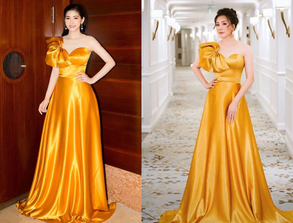 'Đụng hàng' váy áo, Á hậu Hoàng Dung vẫn đẹp nổi bật - Hình 1