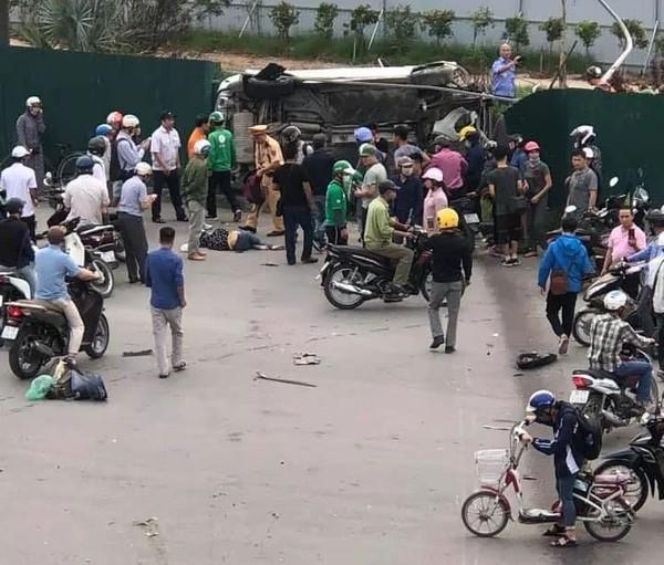 Người phụ nữ lái Mercedes cuốn hai xe máy vào gầm kéo lê hàng chục mét, 3 người thương - Hình 1