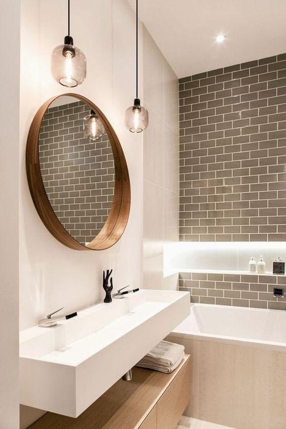 Những kiểu gương phòng tắm đẹp khiến bạn không thể rời mắt - Hình 1