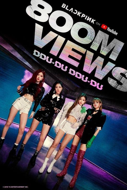 Ddu-du ddu-du (BlackPink) đạt 800 triệu view, netizen ngán ngẩm