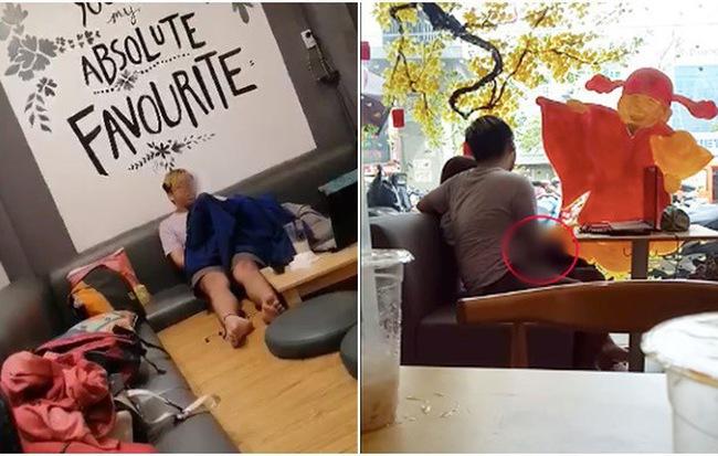 Không chỉ gây bức xúc vì trùm áo khoác ân ái tại quán trà sữa, cặp đôi trẻ còn bị bắt gặp có những hành động phản cảm ở nhiều nơi khác - Hình 1