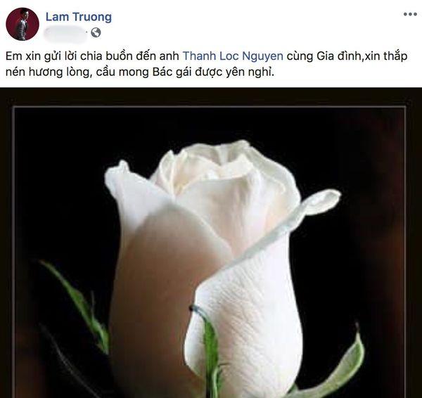 Hồng Đào, Lam Trường cùng các sao Việt bày tỏ thương tiếc khi mẹ NSƯT Thành Lộc - Bạch Long qua đời - Hình 2