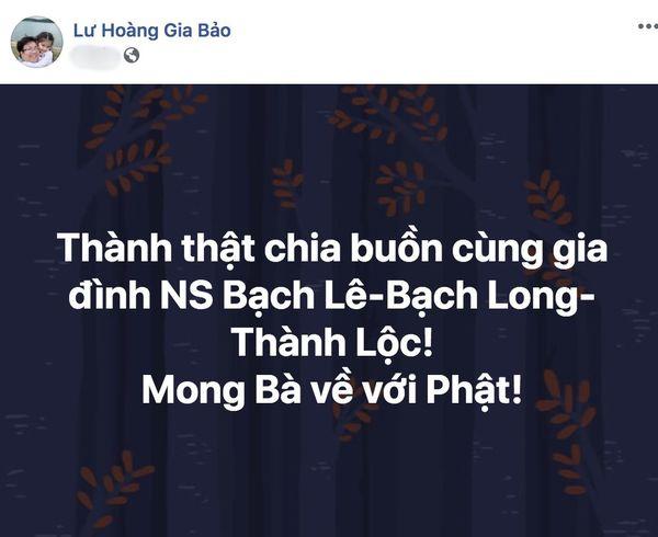 Hồng Đào, Lam Trường cùng các sao Việt bày tỏ thương tiếc khi mẹ NSƯT Thành Lộc - Bạch Long qua đời - Hình 5