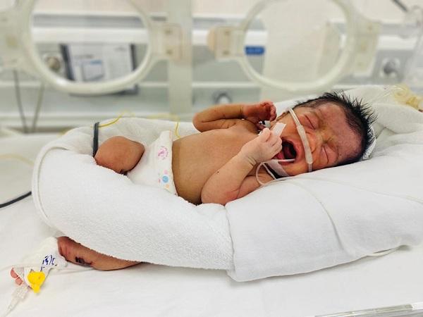 Phú Thọ : Phát hiện bé sơ sinh bị bỏ rơi trong tình trạng nguy kịch - Hình 1