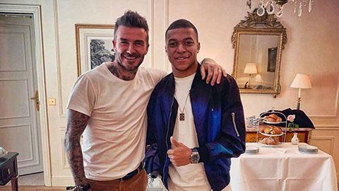 PSG họp mặt các thế hệ: Mbappe rạng ngời cạnh Beckham - Hình 1