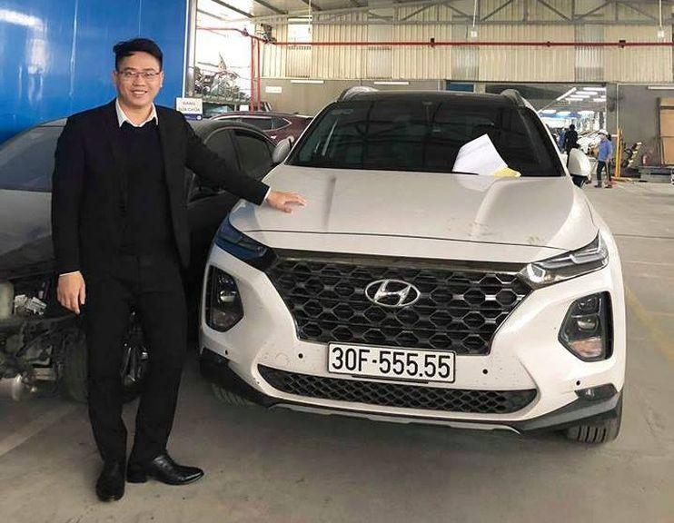 Thêm một chiếc Hyundai Santa Fe mang biển ngũ quý xuất hiện trong làng xe Việt - Hình 3