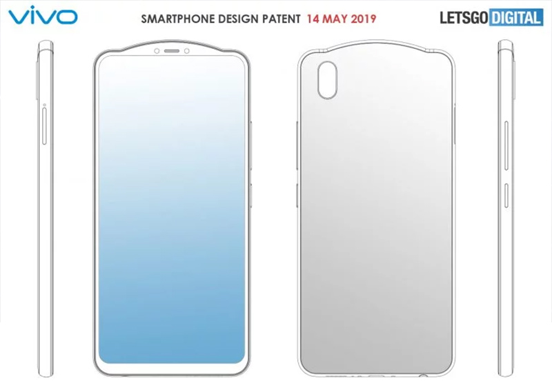 2 smartphone Vivo mới với notch lạ mắt vừa lộ diện trên bằng sáng chế - Hình 1
