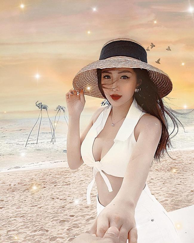 Em họ Hương Tràm khoe dáng nõn nà trong loạt ảnh bikini nóng rẫy - Hình 8