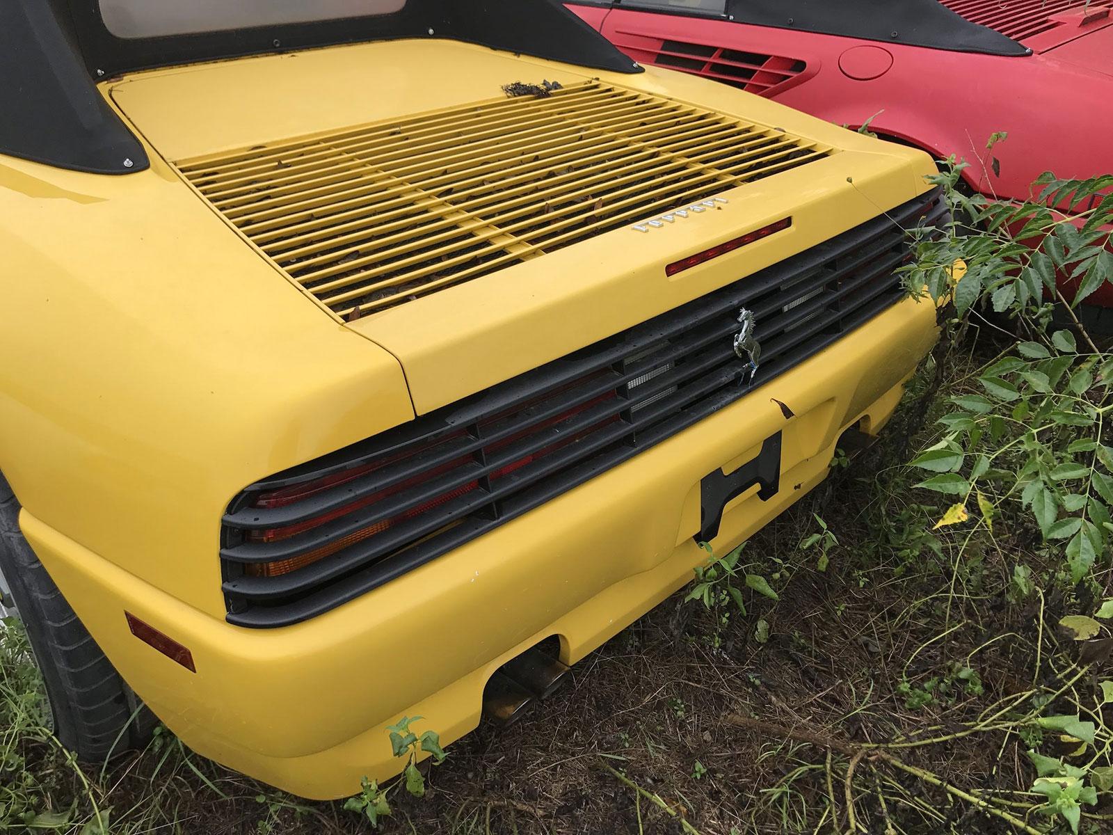 Hơn chục chiếc siêu xe Ferrari bị vứt trỏng trơ tại bãi cỏ khiến ai cũng nhìn cũng xót xa - Hình 14
